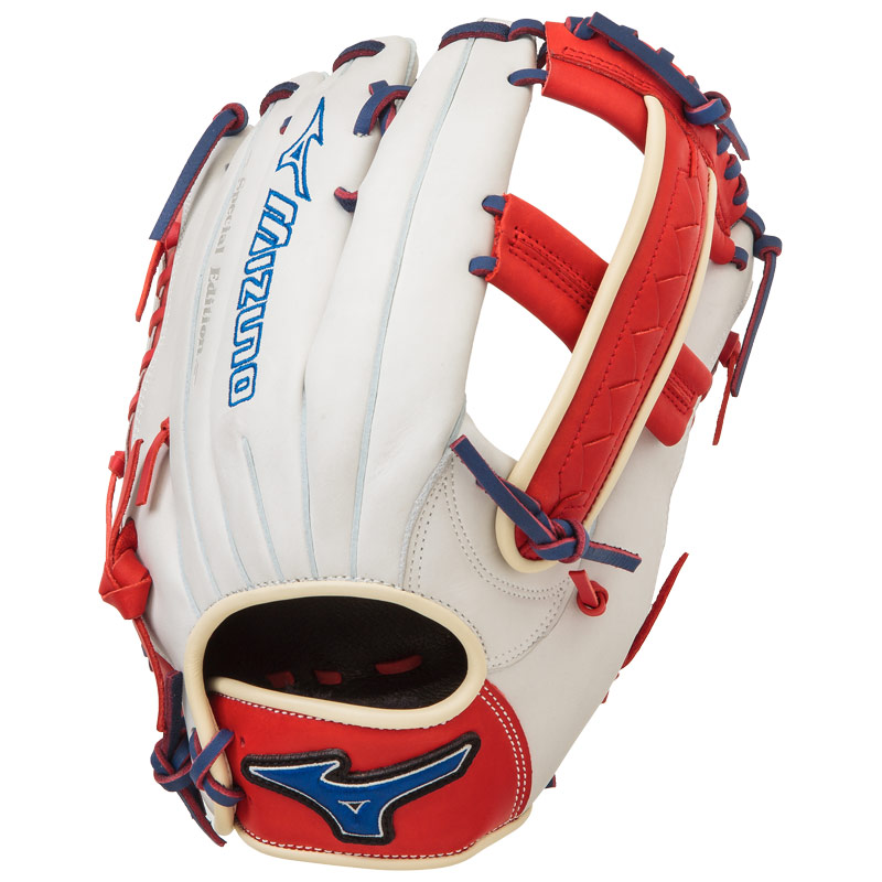 "Mizuno MVP PRIME SE Slowpitch Softball Glove 12.5"" Silver/Red/Royal GMVP1250PSES4"