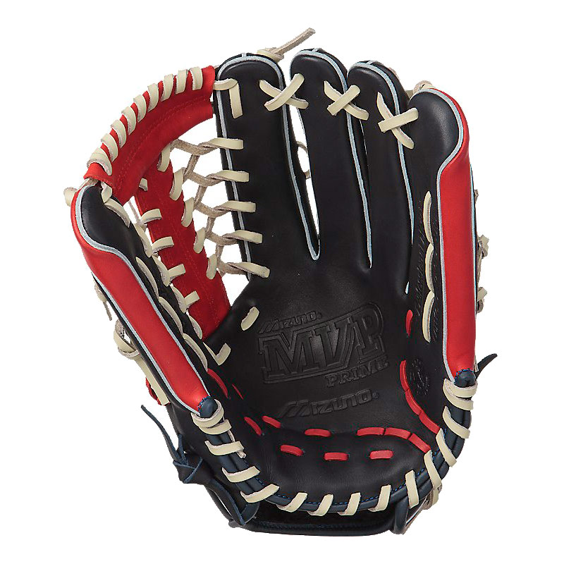 "Mizuno MVP Prime SE Series Baseball Glove 12.75"" Navy/Red GMVP1277PSE"