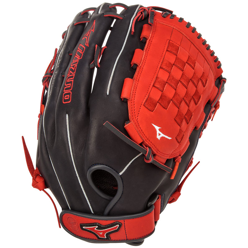 "Mizuno MVP PRIME SE Slowpitch Softball Glove 14"" Navy/Red GMVP1400PSES4"