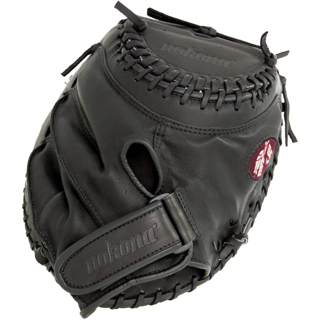 Nokona Buckaroo Black Fastpitch Softball Catchers Mitt AMG275-K-CW (BF-3250C-BLK) 32.5""