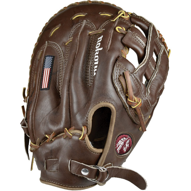 Nokona Classic Walnut First Base Mitt Baseball Glove AMGFB-W-H (WB-1250H) 12.5""