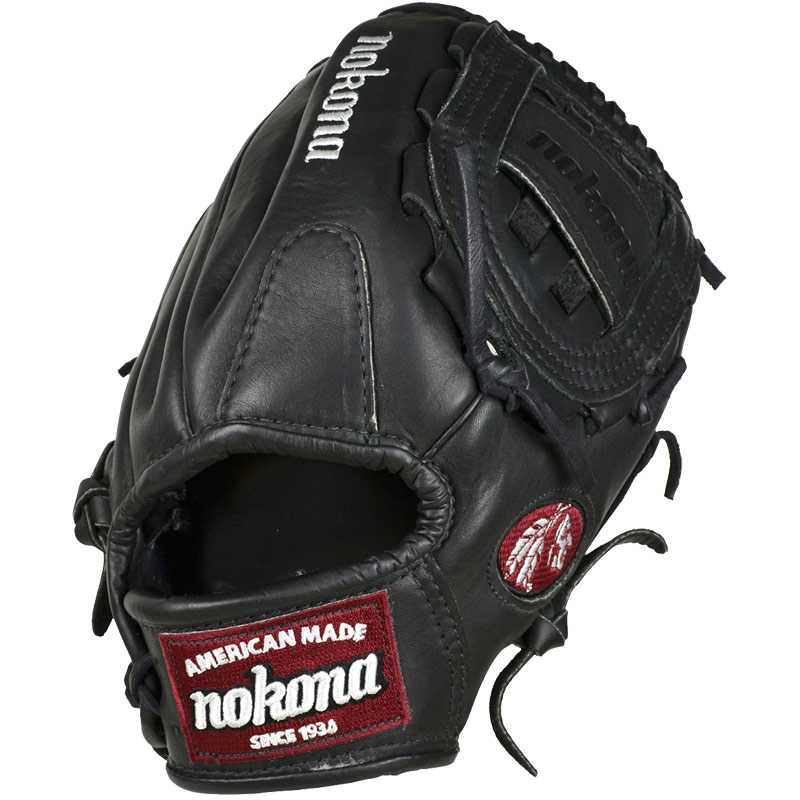 Nokona Bloodline Black Baseball Glove BL-1200 12""