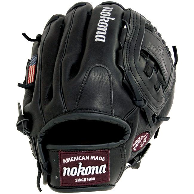 "Nokona Bloodline Black Baseball Glove BL-1200 12"""