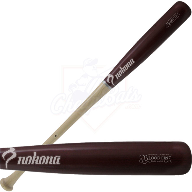 Nokona Maple Wood Baseball Bat Bloodline Two-Tone MB-243