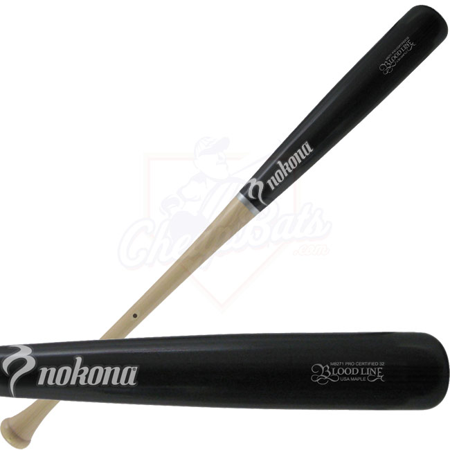 Nokona MB-271 Black Two-Tone Wood Baseball Bat