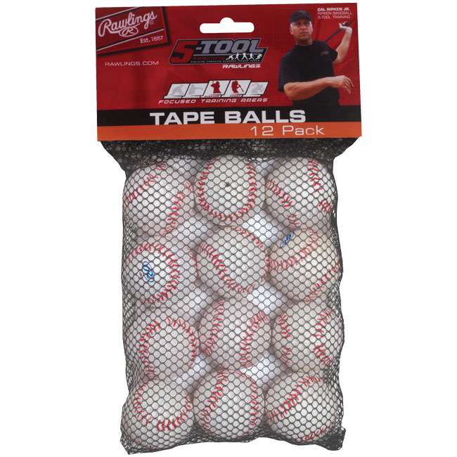 "Rawlings 5-Tool Training Tape Ball 5"" (1 Dozen) TAPEBALL12IN"