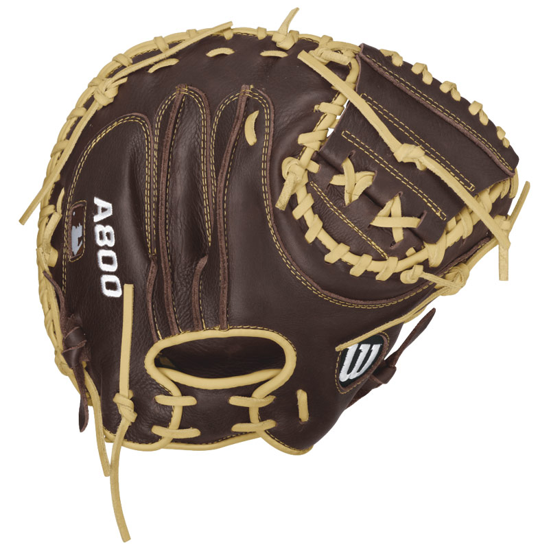 "Wilson A800 Showtime Catcher\'s Mitt 34"" WTA08RB16CM34"