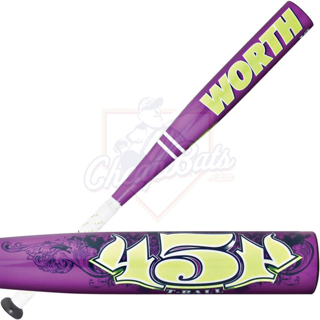 Worth 454 Girls Tee Ball Bat -13oz TBG454