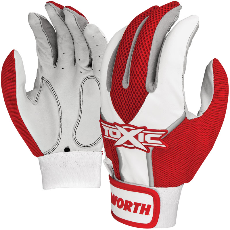 CLOSEOUT Worth Toxic Batting Glove (Adult Pair) TOXBG
