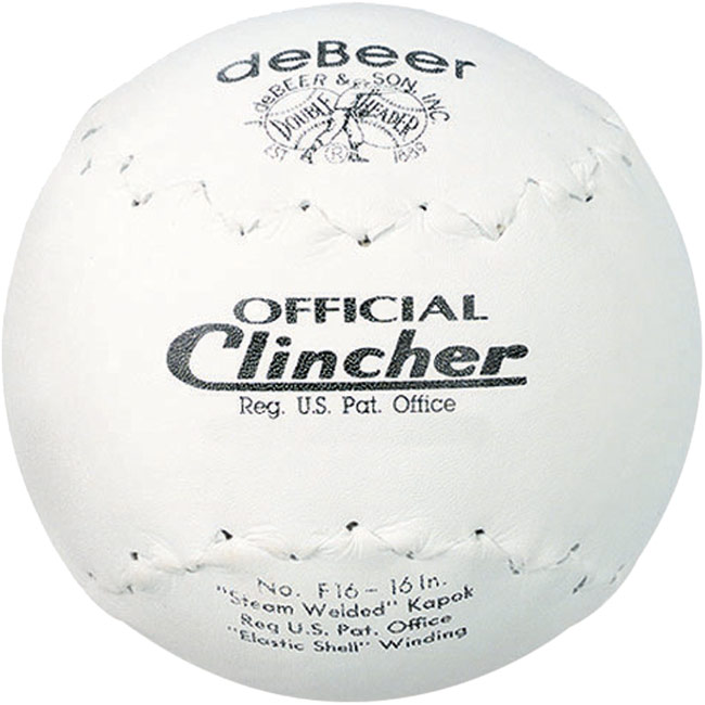 "deBeer Clincher Official Softball 16"" 1 Dozen F16"