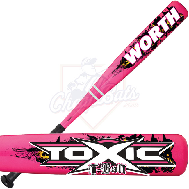 Worth Toxic T-Ball Baseball Bat Girls -12oz TBGTOX