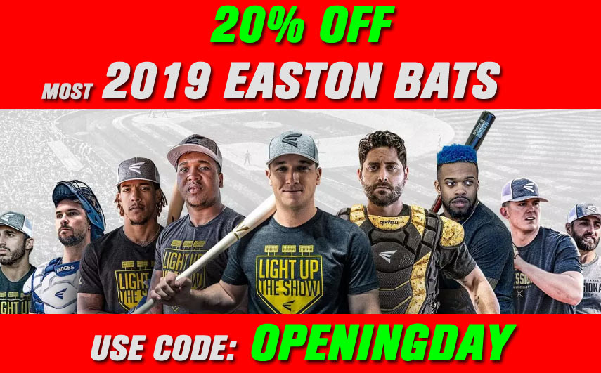 20% Off 2019 Easton Bats