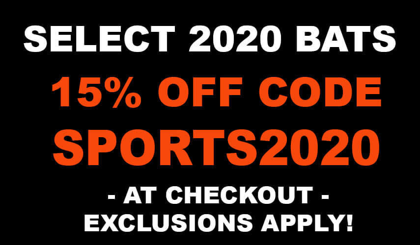 Baseball Bat Sale 15% Coupon Code
