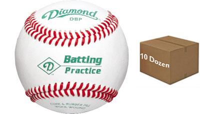 Diamond DBP Batting Practice Baseball 10 Dozen