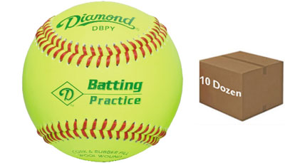 Diamond DBPY Batting Practice Baseball 10 Dozen