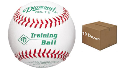 "Diamond DOL-7.5 Training Ball 7 1/2"" Baseball 10 Dozen"