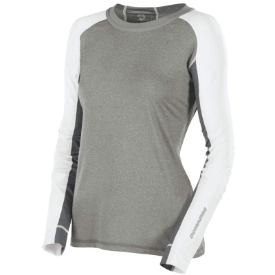 DeMarini Comotion Game T-Shirt Long Sleeve Womens Grey/White