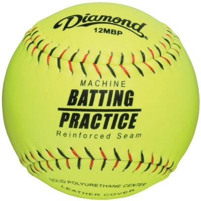 Diamond 12MBP Pitching Machine Batting Practice Softball (6 Dozen)
