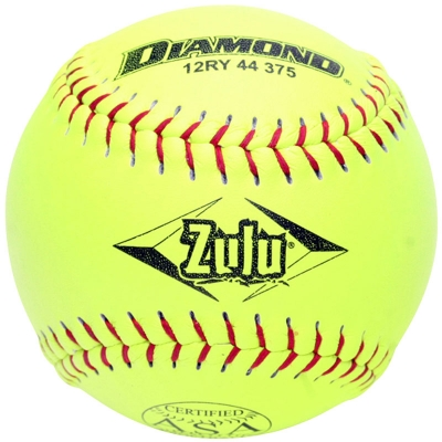 "Diamond Zulu Slowpitch Softball 12"" 12RY 44 375 (6 Dozen)"