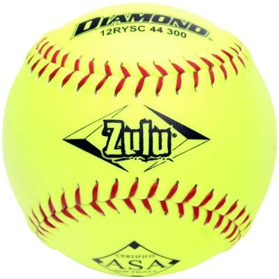 "Diamond Zulu Slowpitch Softball 12"" 12RYSC 44 300 (6 Dozen)"