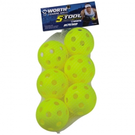 "Worth 5-Tool Plastic Training Balls 12"" 6-pack WROPT126P"
