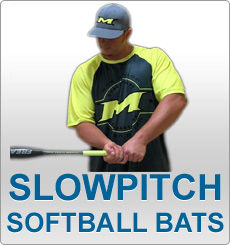 Slowpitch Softball Bats: Anderson, Combat, DeMarini, Slugger, Miken, Mizuno, Rip It, Worth