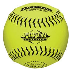 Diamond Flyer Fastpitch Softball Black Stitch NSA .52 COR (6 Dozen)