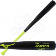 CLOSEOUT Mizuno Classic Bamboo BBCOR Baseball Bat MZB62 340160 (Black/Lime)
