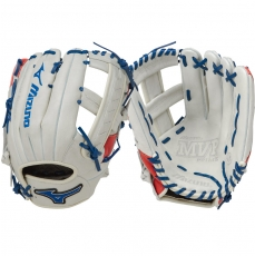 "CLOSEOUT Mizuno MVP Prime SE Slowpitch Softball Glove 12.50"" Silver/Red/Navy GMVP1250PSES5 312477"