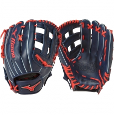 "CLOSEOUT Mizuno MVP Prime SE Slowpitch Softball Glove 13"" Navy/Red GMVP1300PSES5 312478"