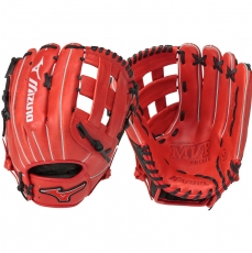 "CLOSEOUT Mizuno MVP Prime SE Slowpitch Softball Glove 13"" Red/Black GMVP1300PSES5 312478"