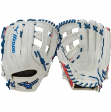 "CLOSEOUT Mizuno MVP Prime SE Slowpitch Softball Glove 13"" Silver/Red/Navy GMVP1300PSES5 312478"