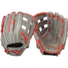 "CLOSEOUT Mizuno MVP Prime SE Slowpitch Softball Glove 13"" Smoke/Red GMVP1300PSES5 312478"