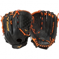 "CLOSEOUT Mizuno MVP Prime SE Slowpitch Softball Glove 14"" Black/Orange GMVP1400PSES5 312479"