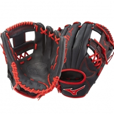 "CLOSEOUT Mizuno MVP Prime SE Baseball Glove 11.5"" Black/Red GMVP1154PSE6 312506"