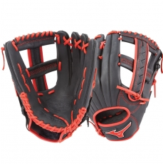 "CLOSEOUT Mizuno MVP Prime SE Slowpitch Softball Glove 12.5"" Black/Red GMVP1250PSES6 312528"