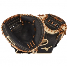 "Mizuno Pro Select Baseball Catcher's Mitt 33.5"" GPS1BK-335C 312671"