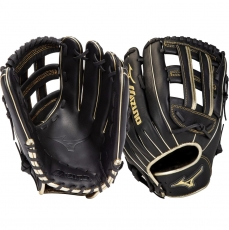 "Mizuno MVP Prime SE Slowpitch Softball Glove 13"" Black/Gold GMVP1300PSES8 312856"