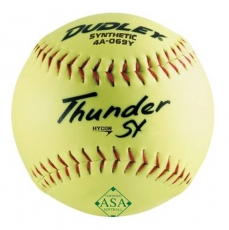 "Dudley 12"" ASA Thunder SY Hycon Slowpitch Softball (1 Dozen) 4A-069Y"