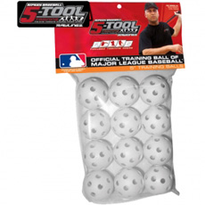 "CLOSEOUT Rawlings 5-Tool Plastic 5"" Training Balls (12 pack)"