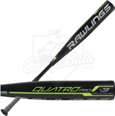 2019 Rawlings Quatro Pro BBCOR Baseball Bat -3oz BB9Q3