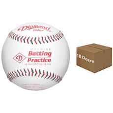 Diamond DMBP Pitching Machine Batting Practice Baseball 10 Dozen