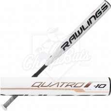 CLOSEOUT 2019 Rawlings Quatro Fastpitch Softball Bat -10oz FP9Q10