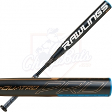 2020 Rawlings Quatro Pro Fastpitch Softball Bat End Loaded -10oz FPPE10