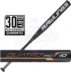 CLOSEOUT 2019 Rawlings Quatro Pro Fastpitch Softball Bat -10oz FPQP10