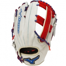 "Mizuno MVP Prime SE Slowpitch Softball Glove 12.5"" Silver/Red/Royal GMVP1250PSES3"
