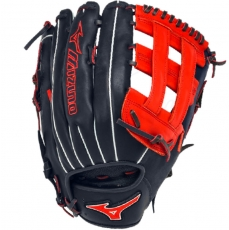 "CLOSEOUT Mizuno MVP Prime SE Slowpitch Softball Glove 13"" Navy/Red GMVP1300PSES3"
