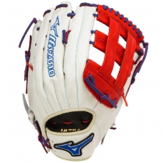 "Mizuno MVP Prime SE Slowpitch Softball Glove 13"" Silver/Red/Royal GMVP1300PSES3"