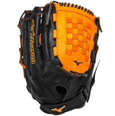 "Mizuno MVP Prime SE Slowpitch Softball Glove 14"" Black/Orange GMVP1400PSES3"