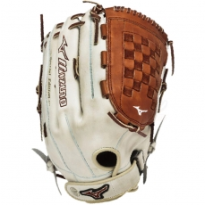 "Mizuno MVP Prime SE Slowpitch Softball Glove 14"" Silver/Brown GMVP1400PSES3"